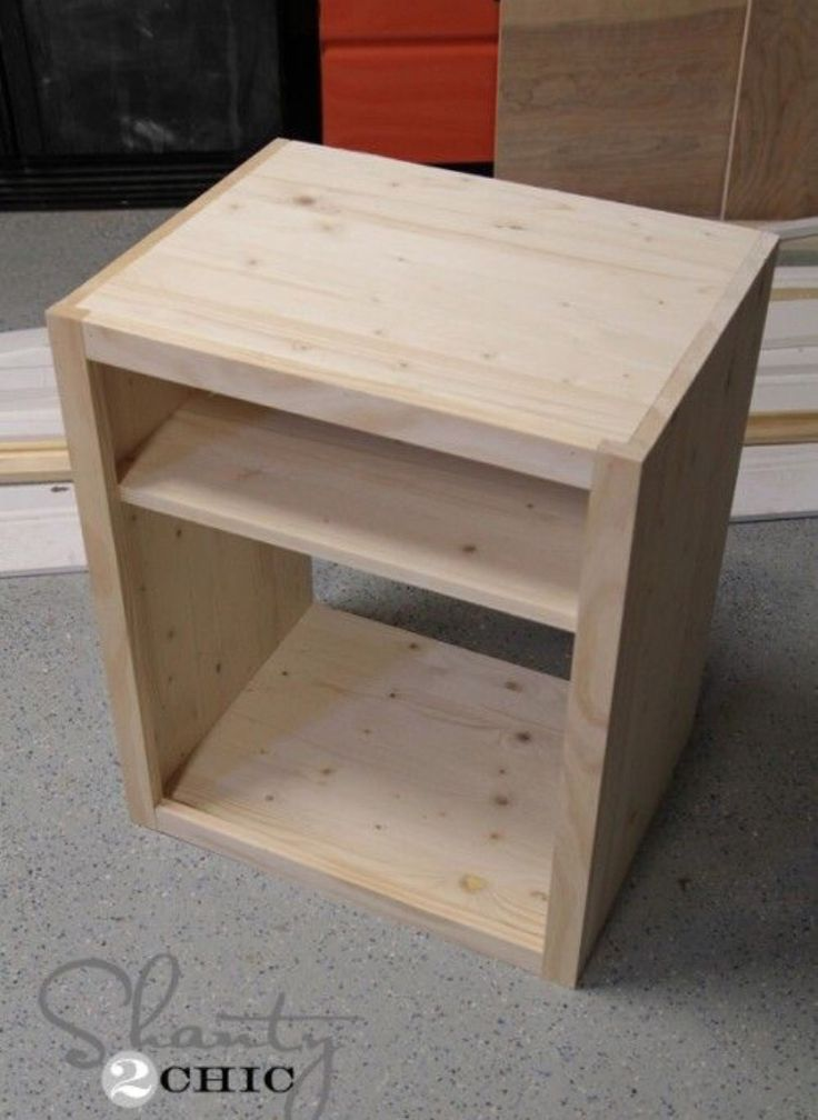 Diy nightstand ideas para diy and crafts and diy nightstand for Homemade nightstand ideas