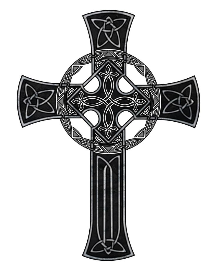 Wonderful Black Celtic Cross Tattoo Design