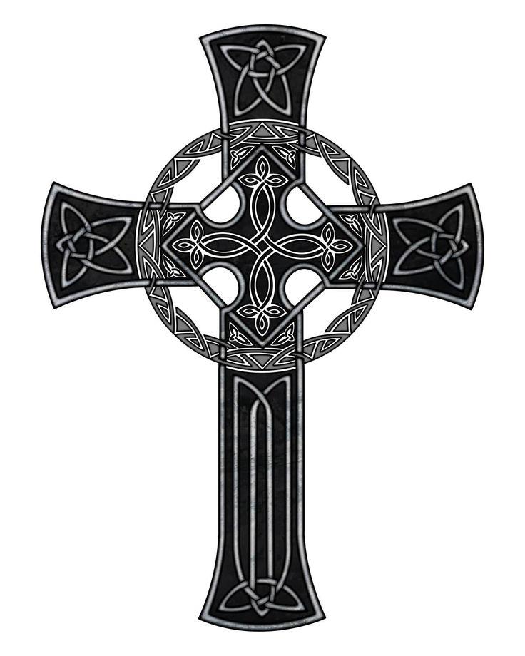 Wonderful Black Celtic Cross Tattoo Design