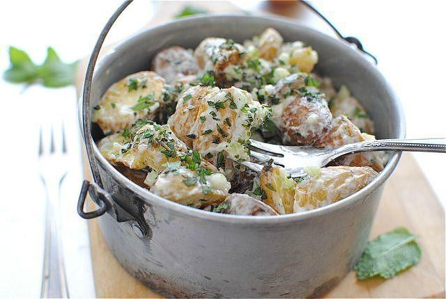 Lemony Roasted Potato SaladEasy Recipe, Potato Salad, Food, Bev Cooking, Salad Recipe, Roasted Potatoes Salad, Lemony Roasted, Favorite Recipe, Happy Recipe