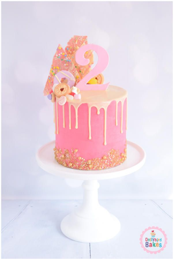 Pink Birthday Cake Decoration Ideas : 25+ best ideas about Drip Cakes on Pinterest Birthday ...