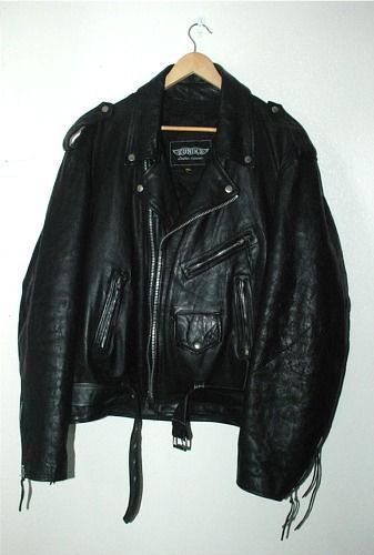 Mens HD Leather Motorcycle Jacket Size 56 W/ Zip Out Liner - UNIK Biker Apparel #Unik #Motorcycle