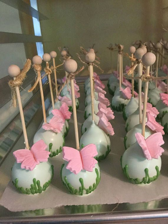 Garden Theme Cake Pops with Grass Decoration and Edible