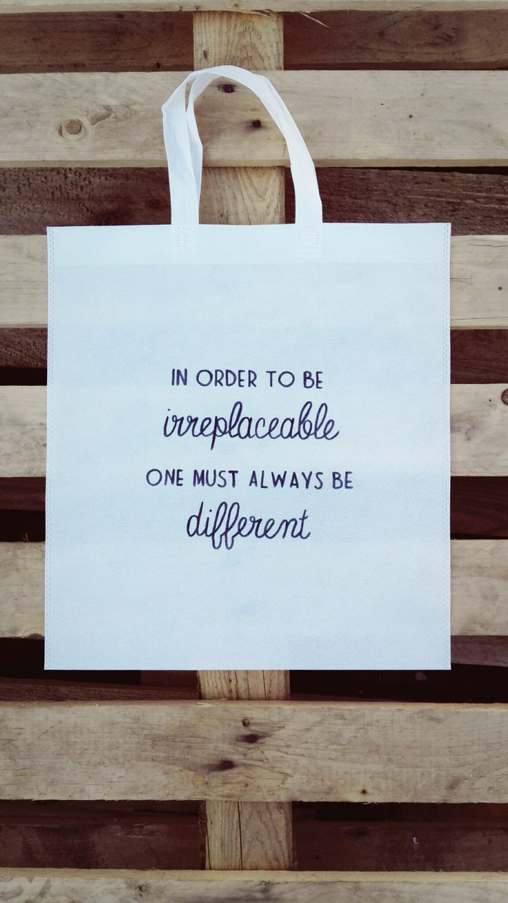 In Order To Be Irreplaceable, One Must Always Be Different Woven Tote :)