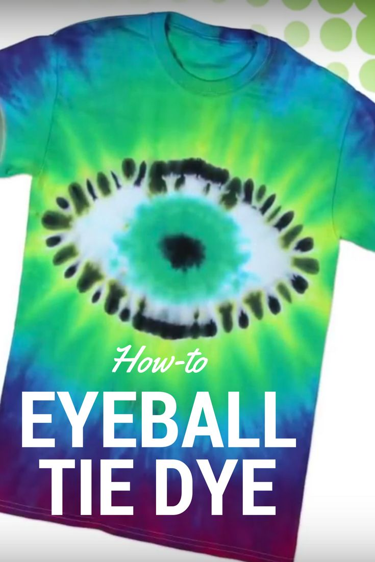 Create this cool tie dye eyeball t-shirt using Tulip One-Step Tie Dye!