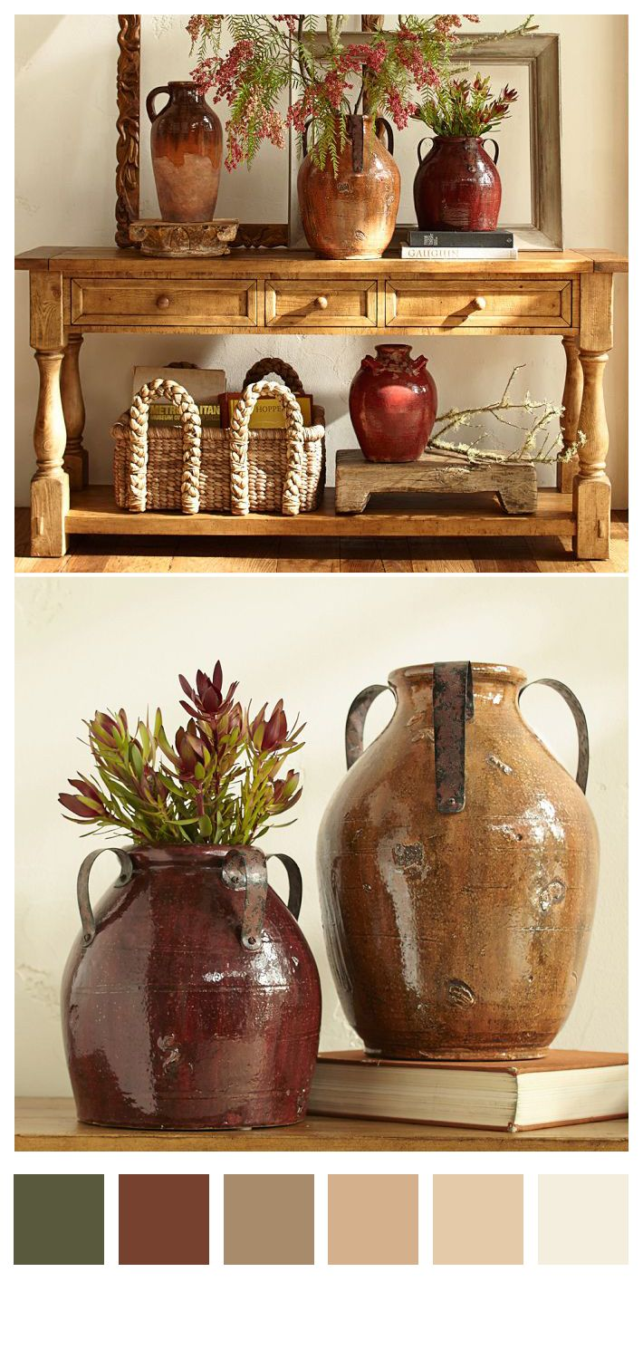 Marlow Rustic Vases #rustic decor found at canadian log homes
