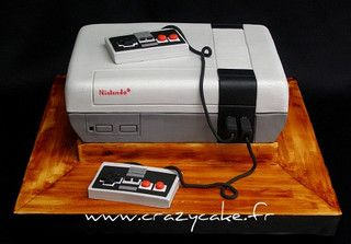 Nintendo grooms cake by Crazy Cake - Cakedesigner57, via Flickr