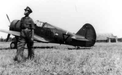 ML-KNIL Curtiss Hawk 75 at an unknown airfield in Java, 1941