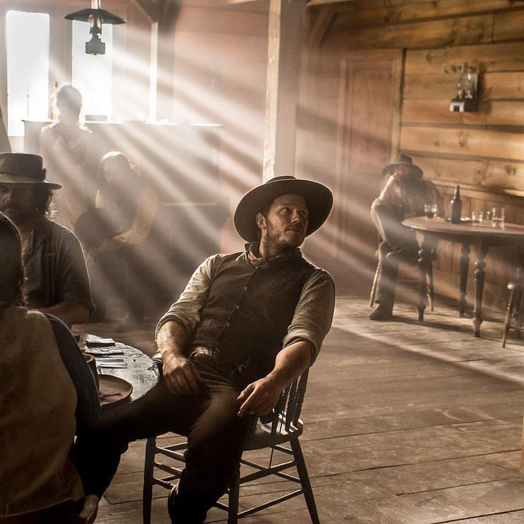 Chris Pratt❤︎ Kick back your heels and grab a drink with #TheMagnificentSeven this #weekend. Now playing!  #Mag7…