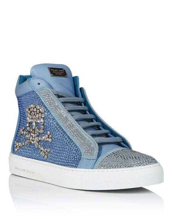 Canvas Hi-Top Sneakers Spring/summerJust Cavalli aZfHusEm