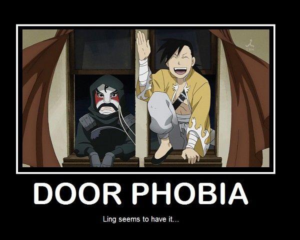 Fullmetal Alchemist Brotherhood. This is so true, he never enters door he always comes through windows.