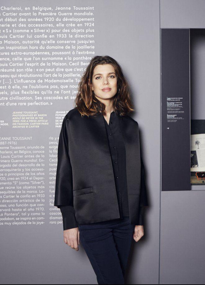 """Erster Auftritt nach der Geburt: Charlotte Casiraghi besuchte die Ausstellung """"Cartier. Style and History"""" im Grand Palais in Paris."""