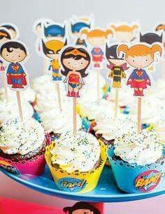 Cupcake temáticos de La Liga de la Justicia