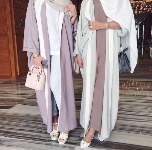 these abayas are nice and flowy perfect for the hot weather and can easily be layered with different outfits for different seasons.