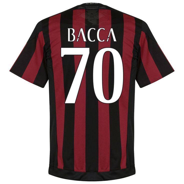soccer ac milan retro shirt 1960s ac milan shirt thuis 2015 2016 bacca 70 (fan style)