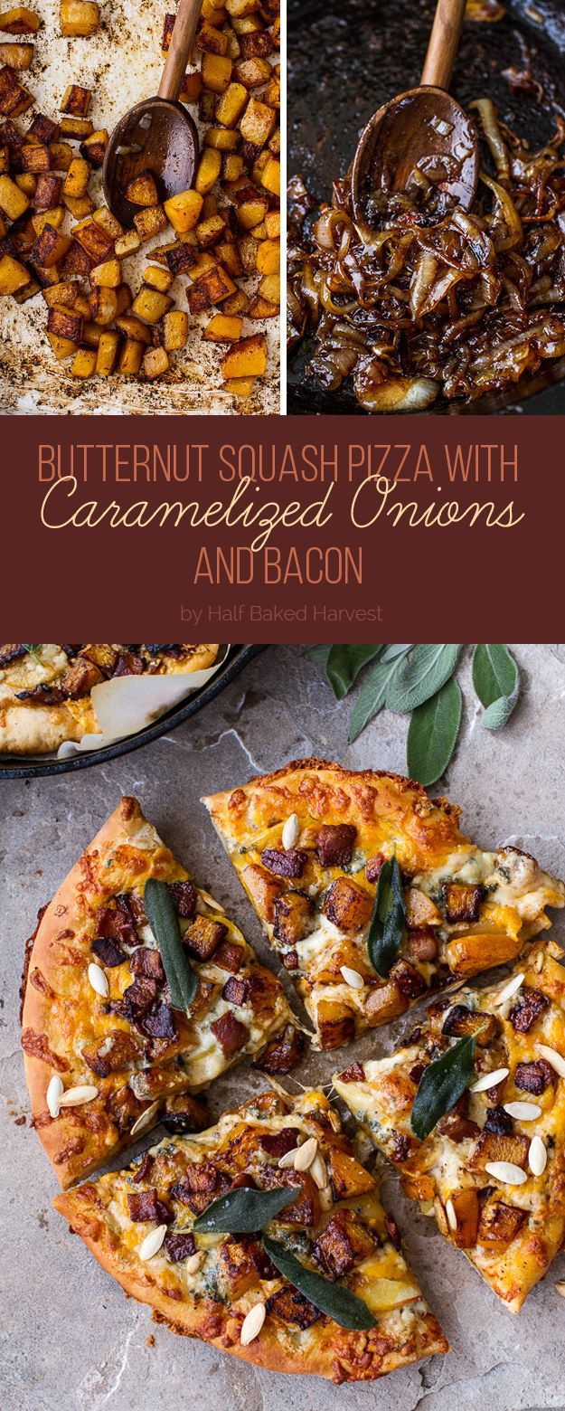 Butternut Squash Pizza with Caramelized Onions and Bacon | Here's What You Should Eat For Dinner This Week