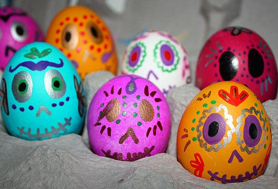 Day of the Dead Wedding Favors Mexican Cascarones Confetti Eggs on Etsy, $24.95