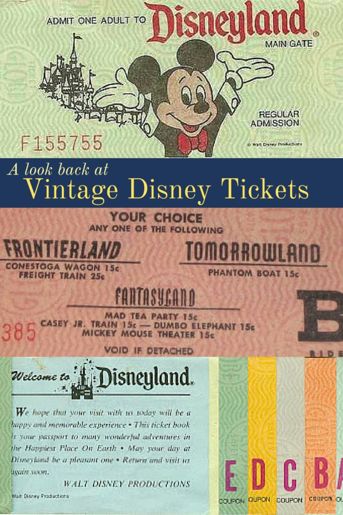 VINTAGE DISNEY - Take a look with me at the earliest Disneyland tickets! Disney history fans will enjoy reading about how the company began charging admission for rides. Folks planning a Walt Disney World or Disneyland vacation may appreciate the laugh when they see what their vacation would have cost 50+ years ago! :)