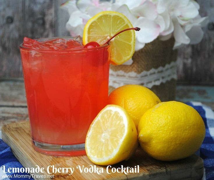 This Lemonade Cherry Vodka Cocktail is so good and super easy to make. And if you've never had cherry vodka before you are in for a real treat. Hopefully, I can come up with some other ways t…