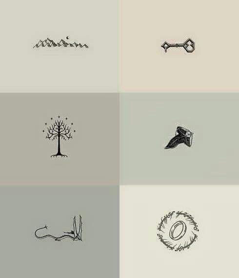 Great tattoo ideas -- Lord of the Rings/ The Hobbitt- Tolkein