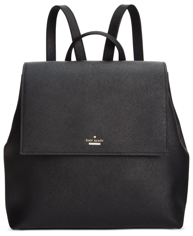 "A sophisticated, grown-up spin on a youthful silhouette, kate spade new york's Neema backpack presents sleek minimalist styling in luxe leather. | Leather; lining: polyester | Imported | 11-9/10""W x 1"
