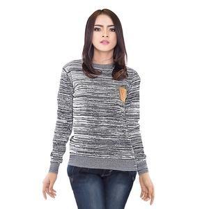 Sweater Wanita Rajut Warna Abu abu [SIP 573] (Brand Inficlo) Produk Indonesia