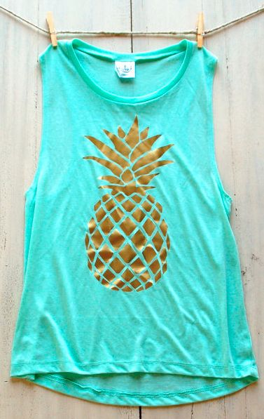 still love this mint pineapple tank