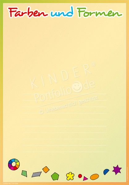 Farben und Formen - Portfoliovorlage