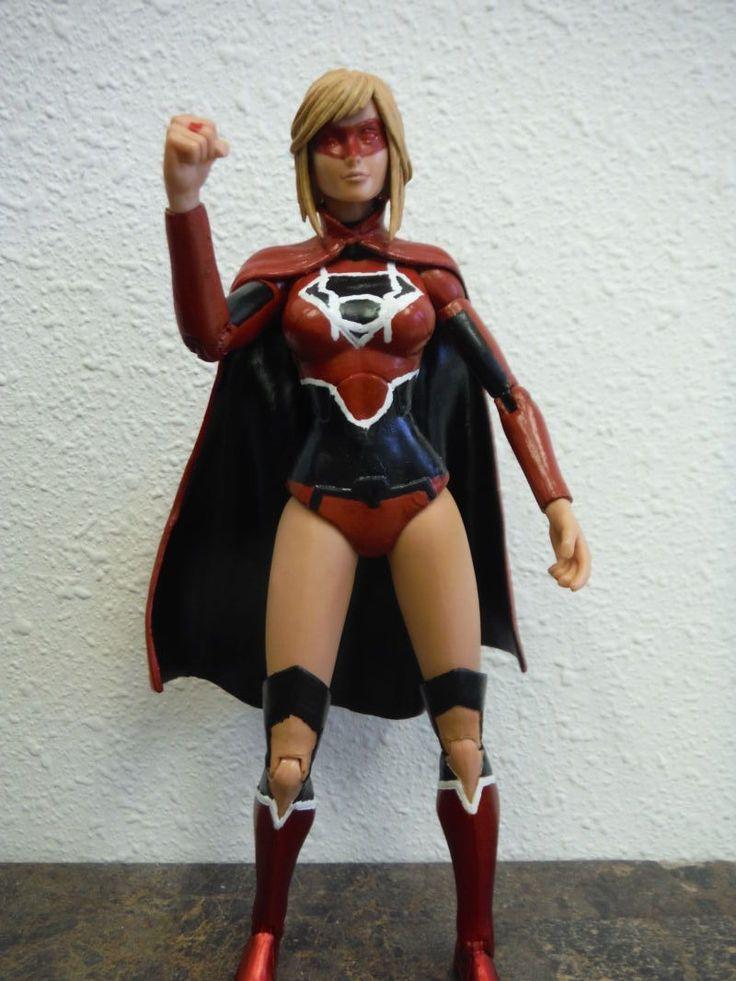 Red Lantern Supergirl (DC Icons) Custom Action Figure