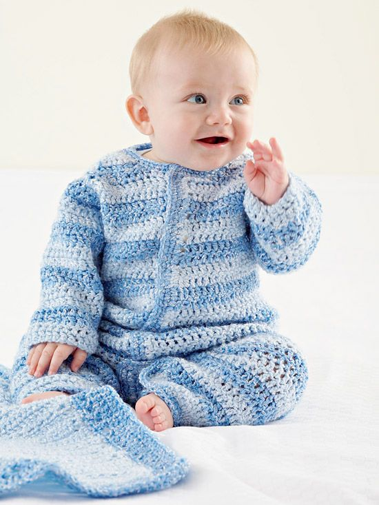 Crochet Patterns Baby Boy : Baby Boy Crochet Onesie