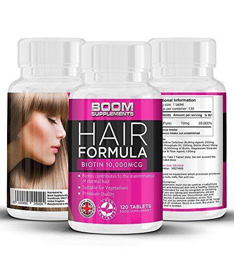 Biotine Cheveux Growth Vitamins 10,000mcg | # 1 comprimés de croissance capillaire | Max Hair Biotin Hair Products | 120 comprimés…