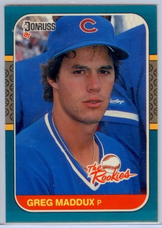 Greg Maddux rookie card