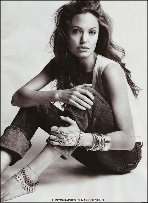 Angelina Jolie, is it weird that I find her to be one of the prettiest women ever? Her face is literally perfect.