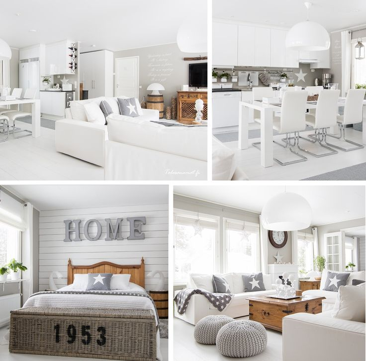 Aranżacja białego domu w stylu skandynawskim
