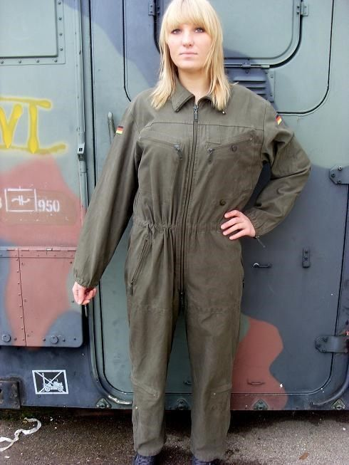 25.00$  Buy here - http://vikxk.justgood.pw/vig/item.php?t=dx3lf8b21221 - German army tanker jump suit coverall combi overall military Bundeswehr boiler 25.00$