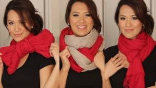 Styling - Scarf tying Ideas - 6 ways to wear your Scarves, via YouTube.
