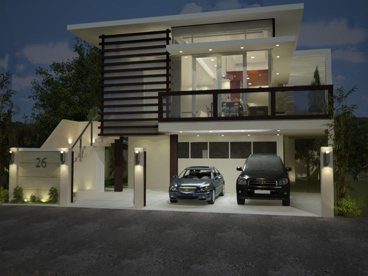 1726 best images about cool modern on pinterest house for Cool two story houses