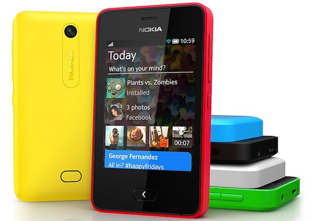 Nokia announced Asha 501 - full touch phone with swipe UI    Nokia Asha 501 key specifications        3-inch QVGA TFT capacitive touch display      3.2-megapixel camera      4GB microSD card bundled with the phone, cards up to 32GB supported      Dual-SIM/ Single-SIM      Wi-Fi/ Edge/ Bluetooth      Asha platform      99.2x58x12.1 mm      98 grams