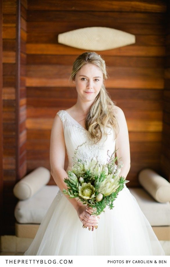 Wedding dress from Bride&co South Africa | Click to view Jenni & Hendrik's Dreamy Seaside Real Wedding featured on The Pretty Blog