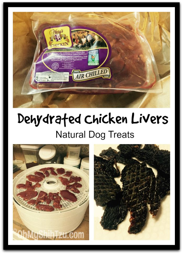 Dehydrated Chicken Liver Dog Treats : A yummy healthy treat for your dog!!  www.OhMyShihTzu.com