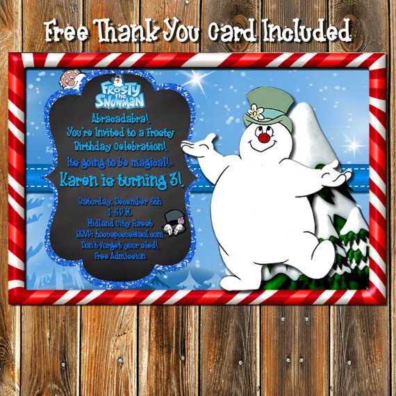 FROSTY THE SNOWMAN Birthday by MyPrintablePartyLine on Etsy