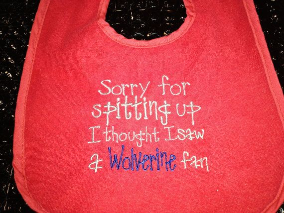 Embroidered Baby Bib Ohio State vs Michigan on Etsy, $5.00 haha @Ashley Walters Woods
