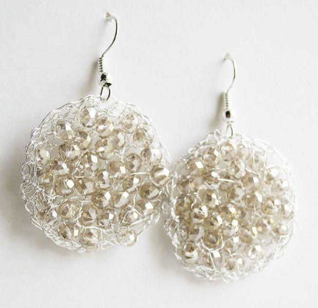 Wire+Crochet+Earrings+Dangle+Earring+from+Unikacreazioni+by+DaWanda.com