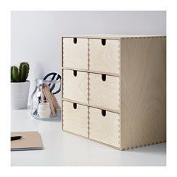 IKEA - MOPPE, Mini chest of drawers, Helps you organise everything from paper, USB sticks and rechargers to make-up and accessories.Untreated wood; can be treated with oil, wax or glazing paint for increased durability and a personal touch.