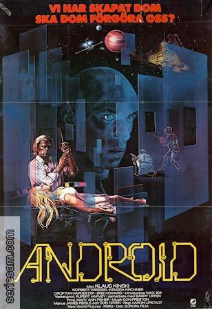 Poster: Android, Starring Klaus Kinski