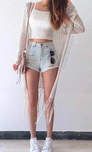 Short de cintura alta e cropped