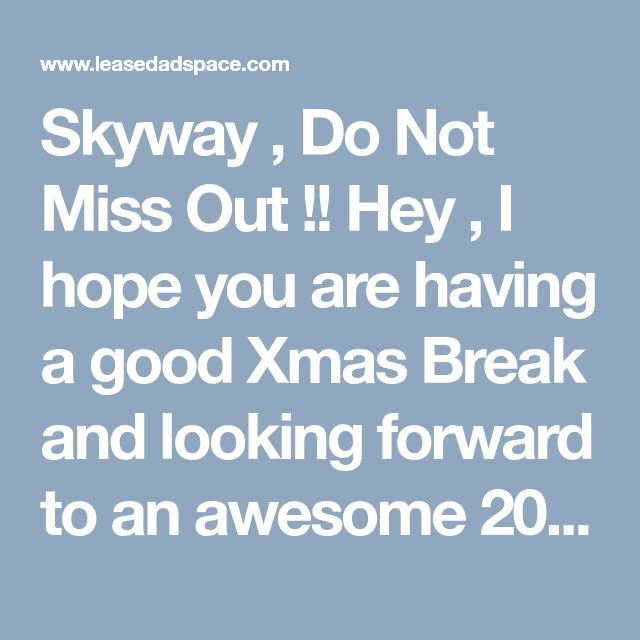 Skyway , Do Not Miss Out !!  Hey , I hope you are having a good Xmas Break and looking forward to an awesome 2018 , I have just been on a webinar with CEO of Skyway , so many good things happening in 2018 and beyond , bit hard to take it all in at once .  Skyway is a high tech travel and goods distribution company , going to be built all over the world in coming years , this will solve so many issues moving people and goods , this string rail will be 5 metres off the ground out of the way of…
