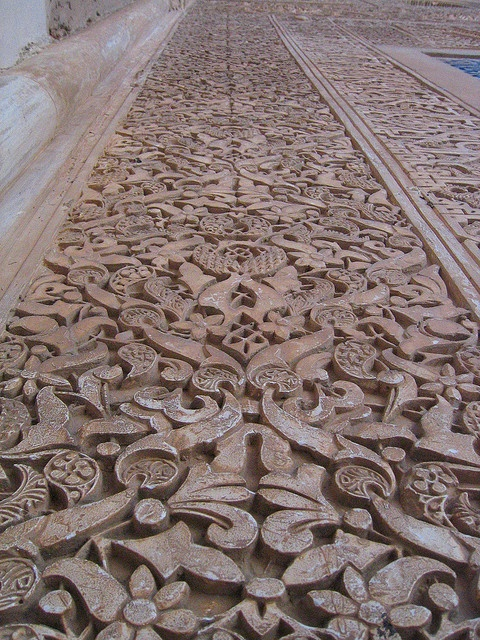 Hand-carved walls of the Nasrid Palaces by monica.shaw, via Flickr