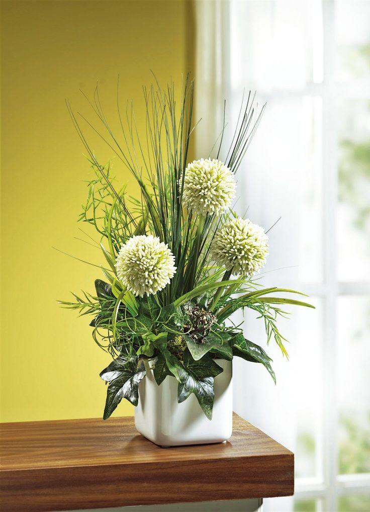 Allium Gesteck Kunst Textilpflanzen Wohnaccessoires Wohnen Bader Flower Arrangements Simple Fresh Flowers Arrangements Modern Flower Arrangements