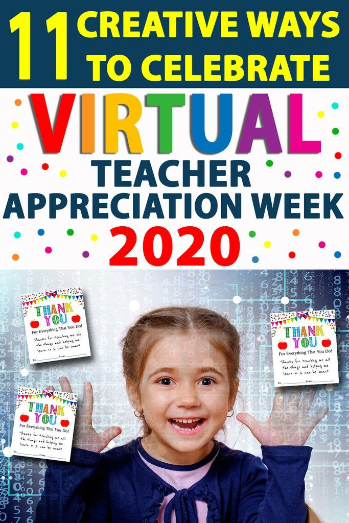 Top 11 Ways To Celebrate Virtual Teacher Appreciation Week 2020 Teacher Appreciation Cards Teachers Appreciation Week Gifts Teacher Appreciation Gifts Diy